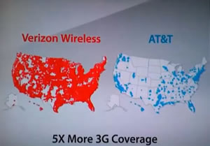 Does Verizon Wireless Have more 3G Coverage than AT&T